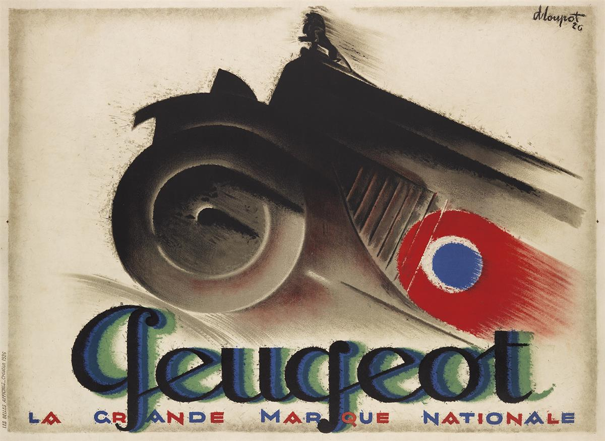 CHARLES-LOUPOT-(1892-1962)-PEUGEOT-1926-45x62-inches-116x158