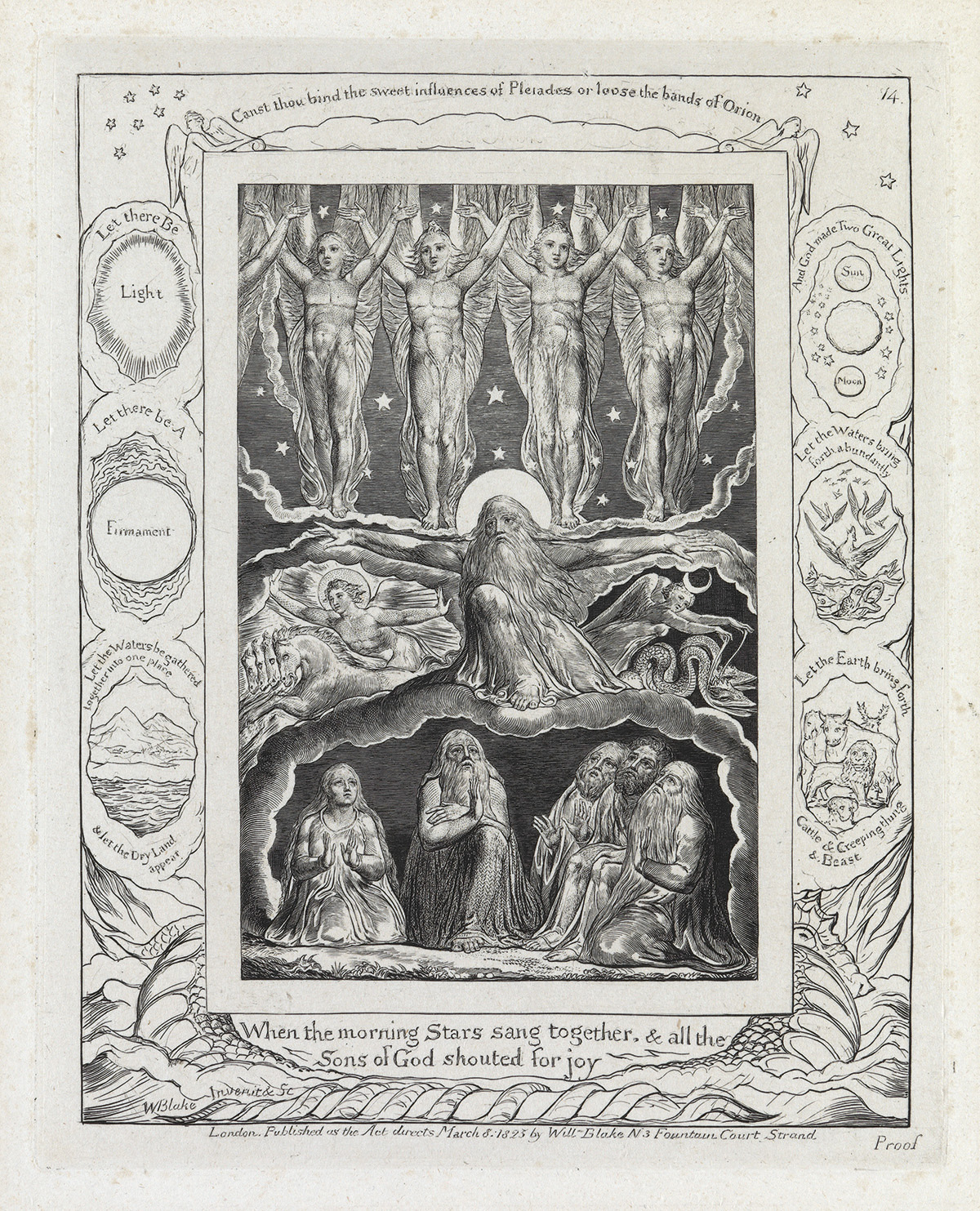 WILLIAM BLAKE When the Morning Stars Sang Together & All the Sons of God Shouted for Joy.