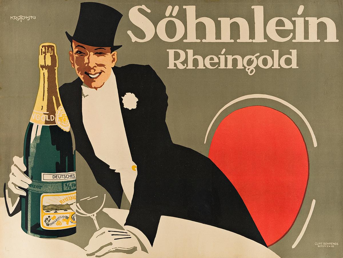 STEPHAN KROTOWSKI (1881-?). SÖHNLEIN RHEINGOLD. 1914. 27x36 inches, 70x93 cm. Curt Behrends, Berlin.