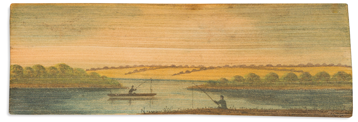 (FORE-EDGE PAINTING.) Faber, Frederick William. Hymns.