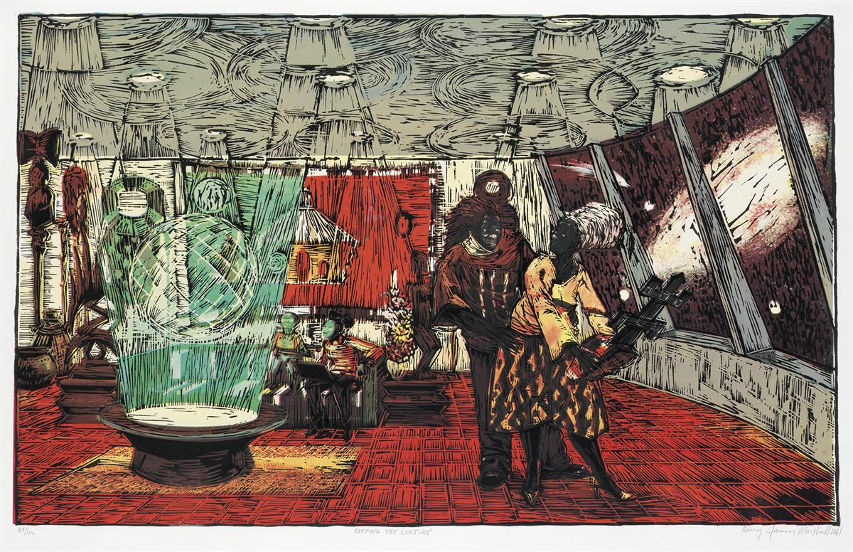KERRY JAMES MARSHALL (1955 -   ) Keeping the Culture.