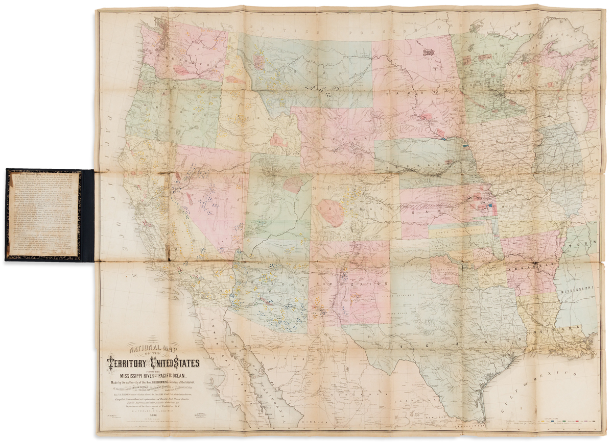 KEELER, W.J. National Map of the Territory of the United States from the Mississippi River to the Pacific Ocean.