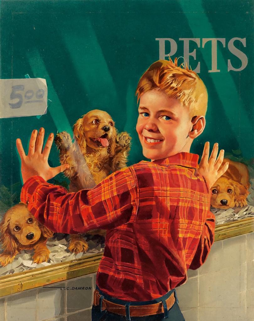 (DOGS.)  JOHN C. DAMRON. Pet Store.