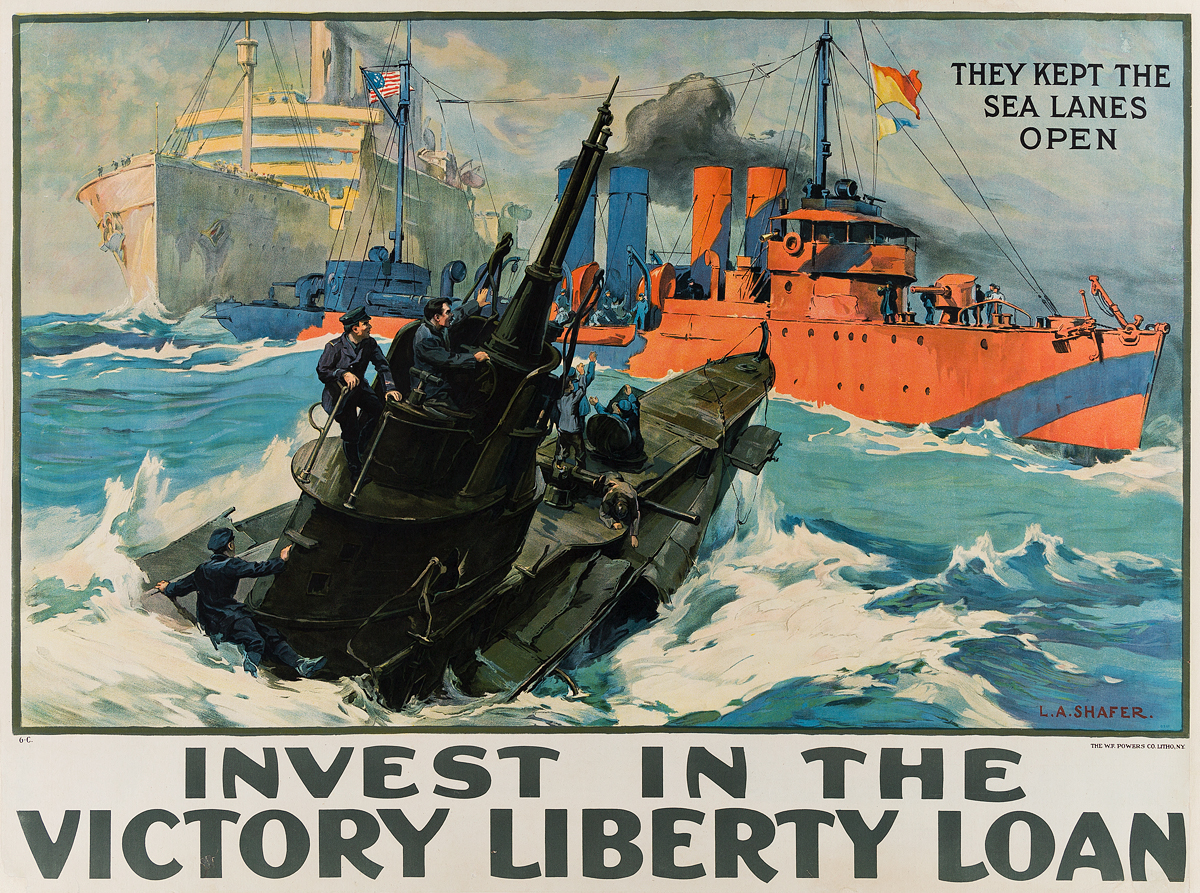 LEON-ALARIC-SCHAFER-(1866-1940)-INVEST-IN-THE-VICTORY-LIBERTY-LOAN-1919-28x38-inches-72x97-cm-The-WF-Powers-Co-Litho-NY