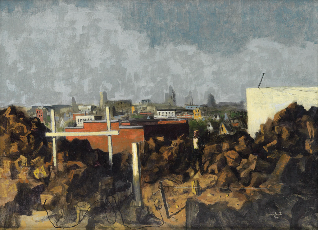 HUGHIE-LEE-SMITH-(1915---1999)-Untitled-(Cityscape)