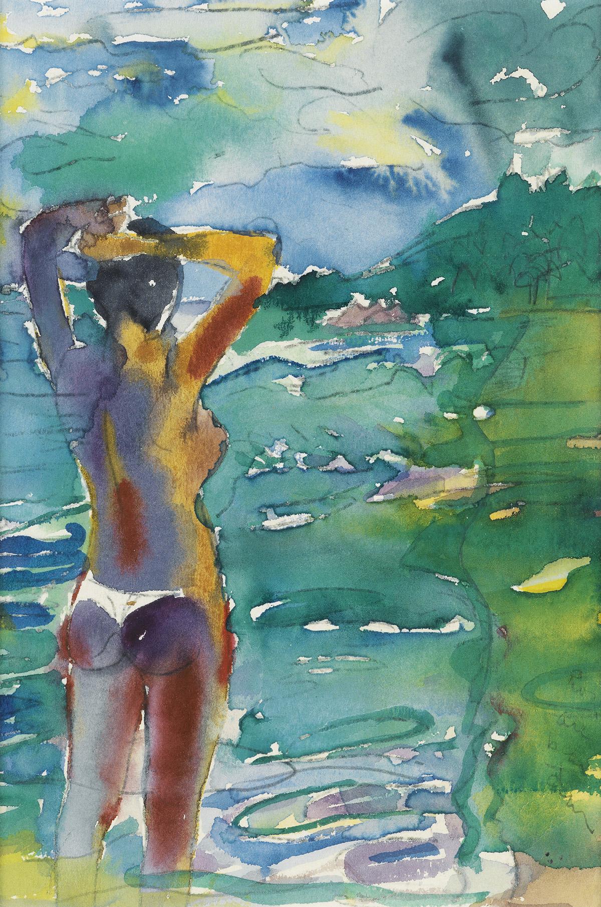 ROMARE BEARDEN (1911 - 1988) Off Orient Bay.