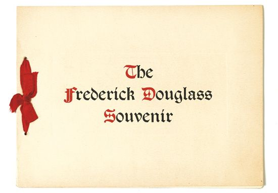 DOUGLASS, FREDERICK. The Frederick Douglass Souvenir.