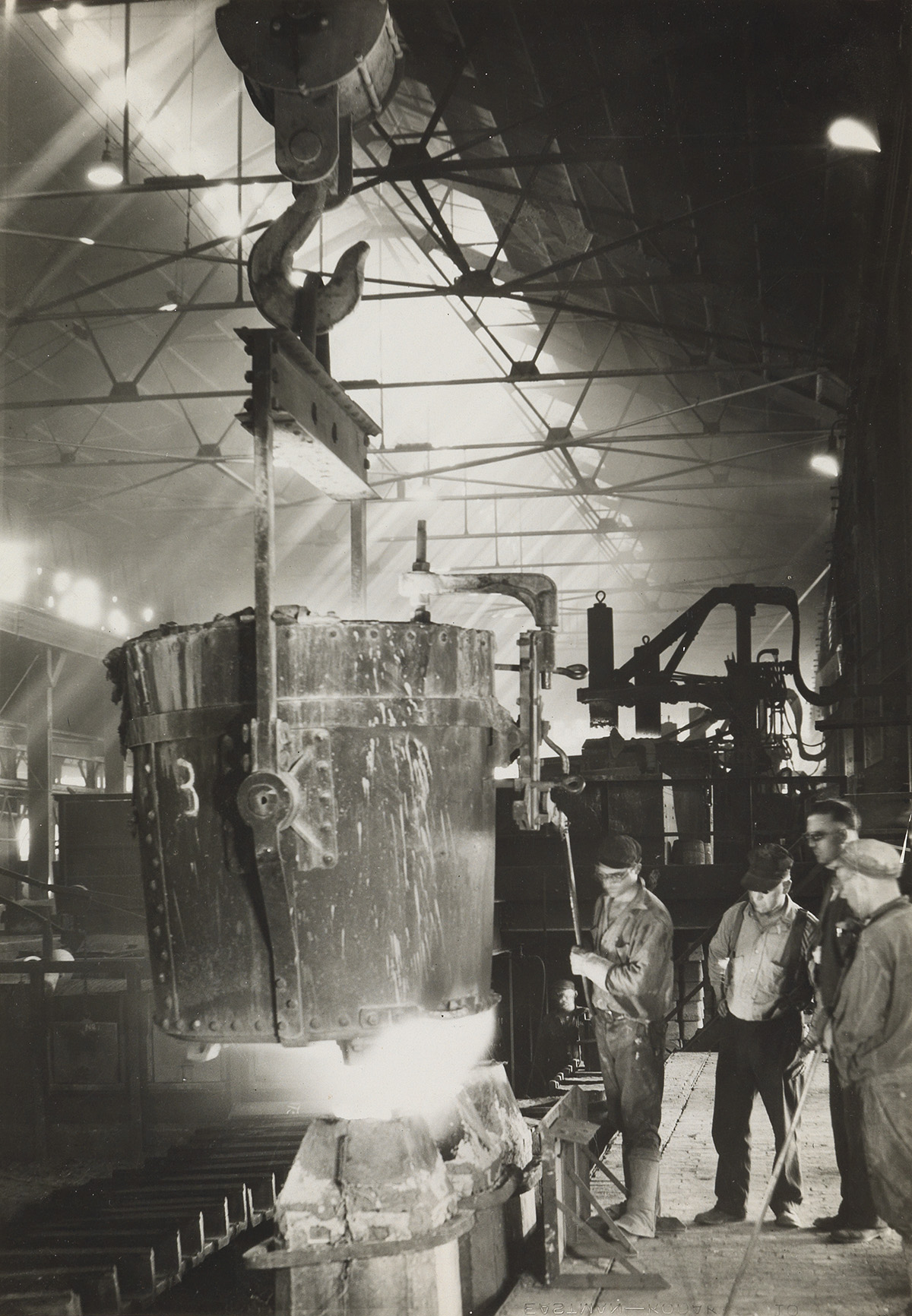 MARGARET BOURKE-WHITE (1904-1971) Pouring Ingots, Ludlum Steel Co.