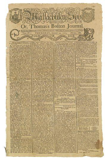 (AMERICAN-REVOLUTION--PRELUDE)-The-Massachusetts-Spy-or-Thom