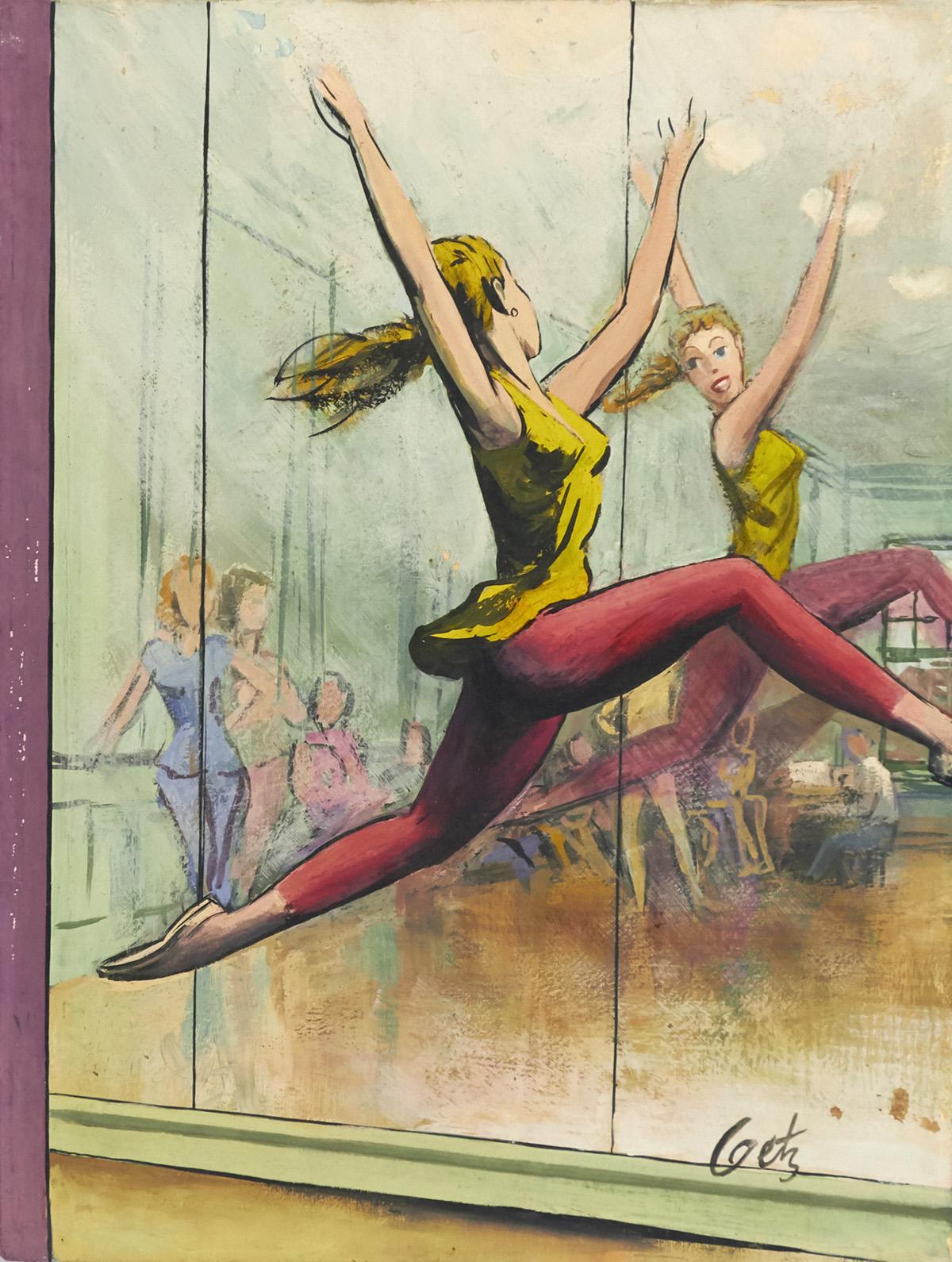 ARTHUR GETZ. Dancer Leaping. [NEW YORKER / COVER ART]