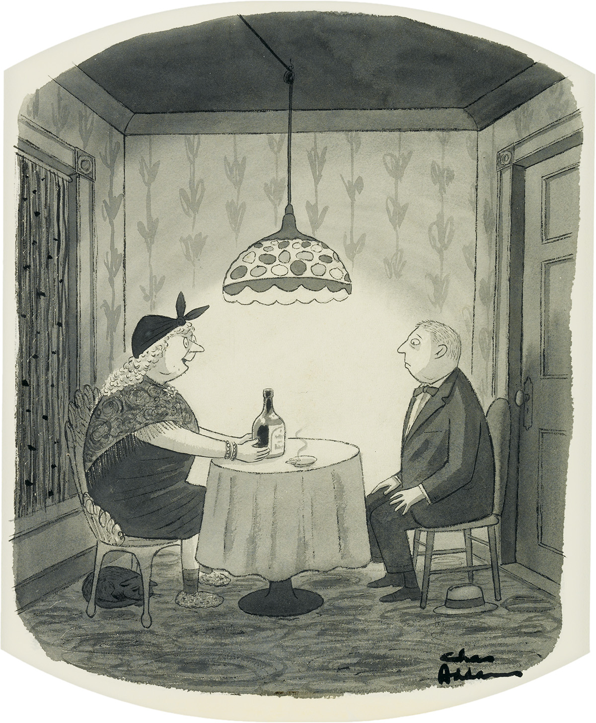 ADVERTISING LIQUOR CHARLES ADDAMS. I always use a Chivas Regal bottle. It conjures up a much better class spirit.