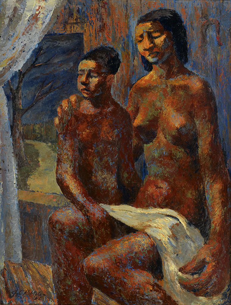 JAMES C. MCMILLAN (1925 -   ) Mother and Child.