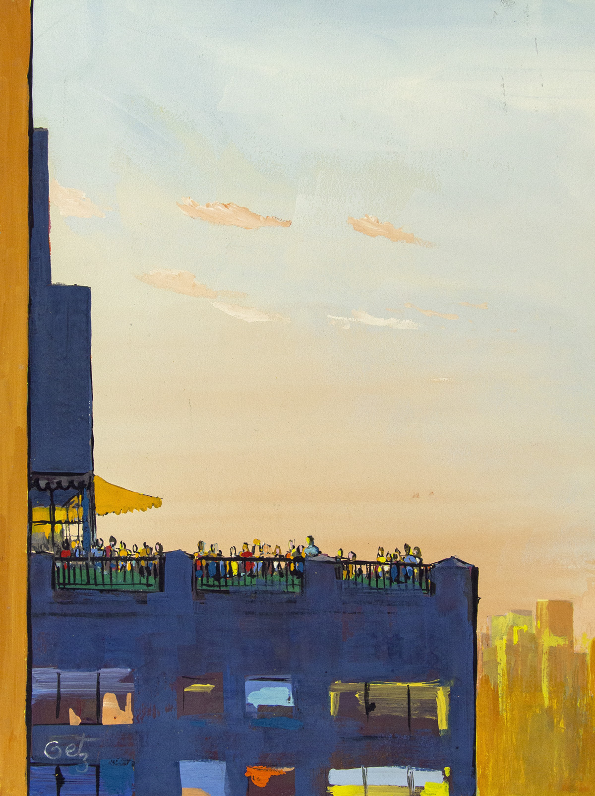 ARTHUR-GETZ-Rooftop-Party-[NEW-YORKER--COVER-ART]