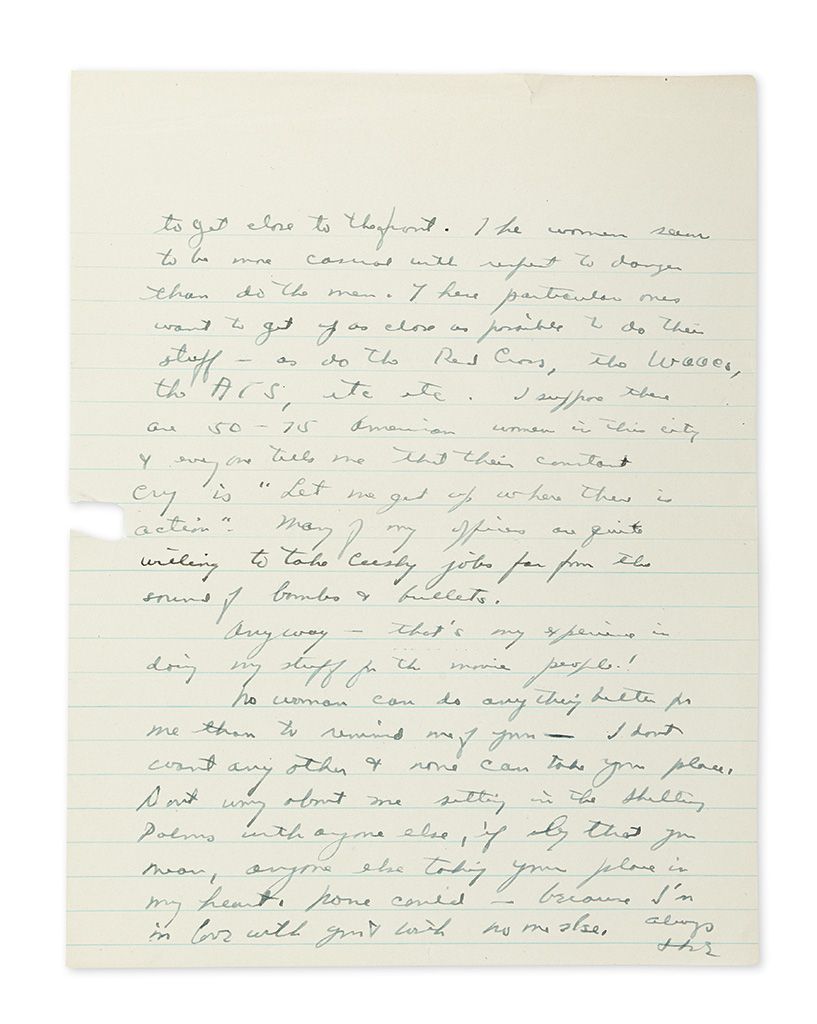EISENHOWER, DWIGHT D. Autograph Letter Signed, Ike, to his wife Mamie (My darling),