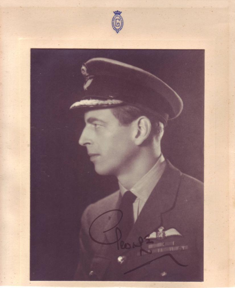 GEORGE;-DUKE-OF-KENT-Photograph-Signed-George-bust-portrait-