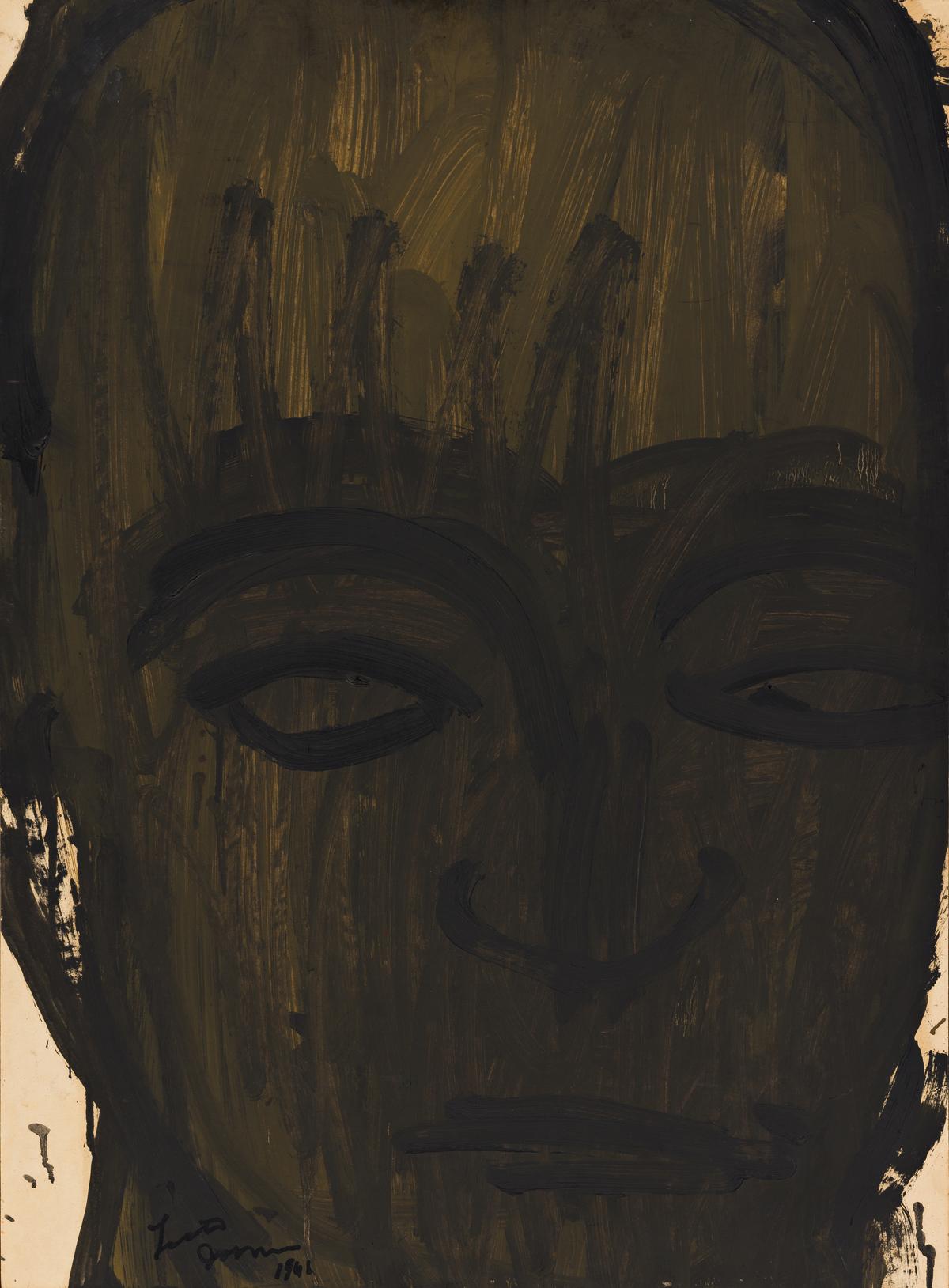 LESTER JOHNSON (1919 - 2010, AMERICAN) Man's Head.