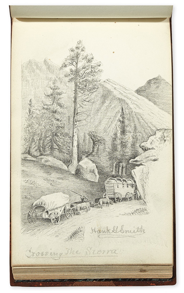 (CALIFORNIA.) Smith, Hank G. Volume of pencil sketches titled Californy.