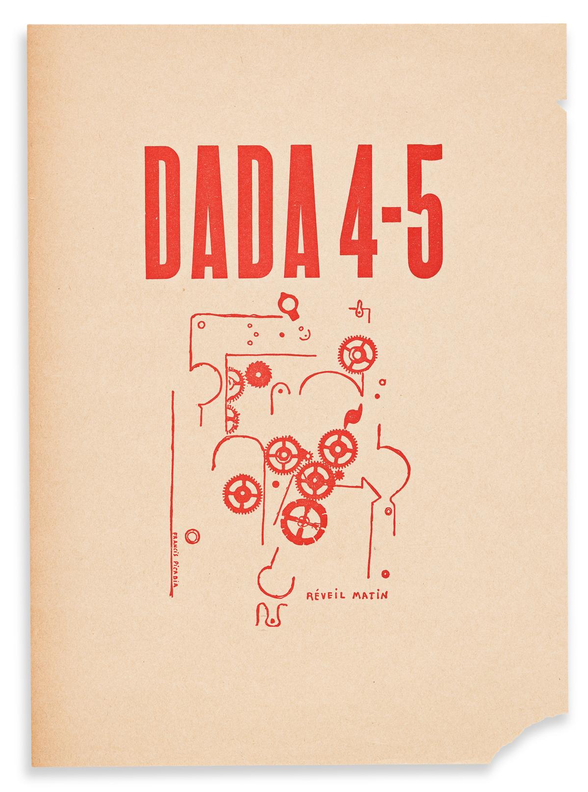 PICABIA, FRANCIS. Dada 4-5, Reveil Matin (Alarm Clock). Zurich (?), 1919.