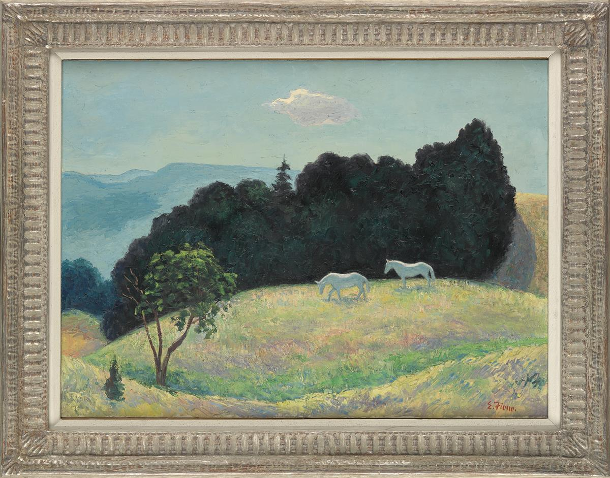 ERNEST-FIENE-Landscape-with-Horses