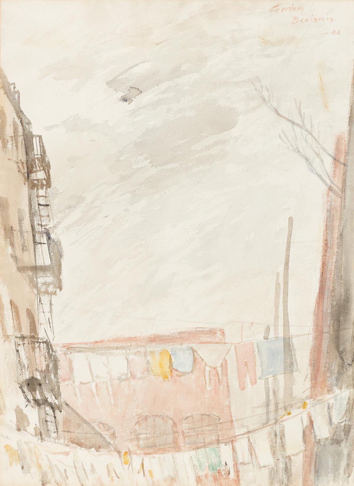 GERSHON BENJAMIN The Towers of New York * New York Backyards #5.