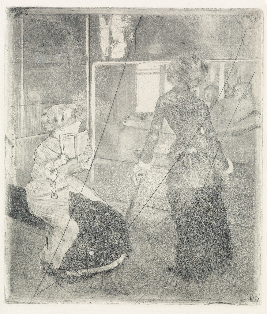 EDGAR-DEGAS-Mary-Cassatt-au-Louvre-Musée-des-Antiques