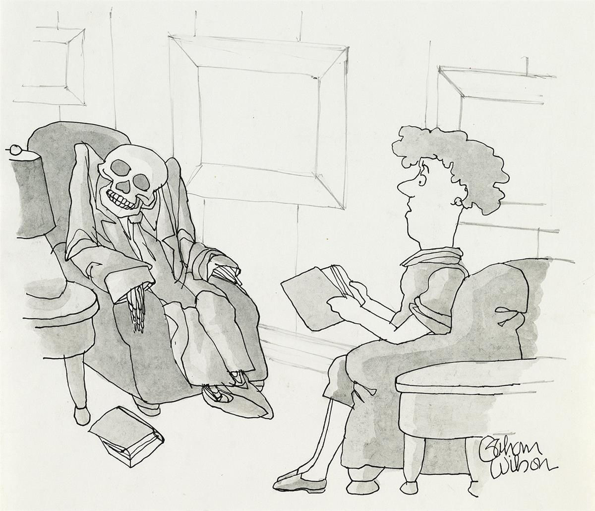 GAHAN-WILSON-(THE-NEW-YORKER--CARTOON)-Youve-changed-Howie