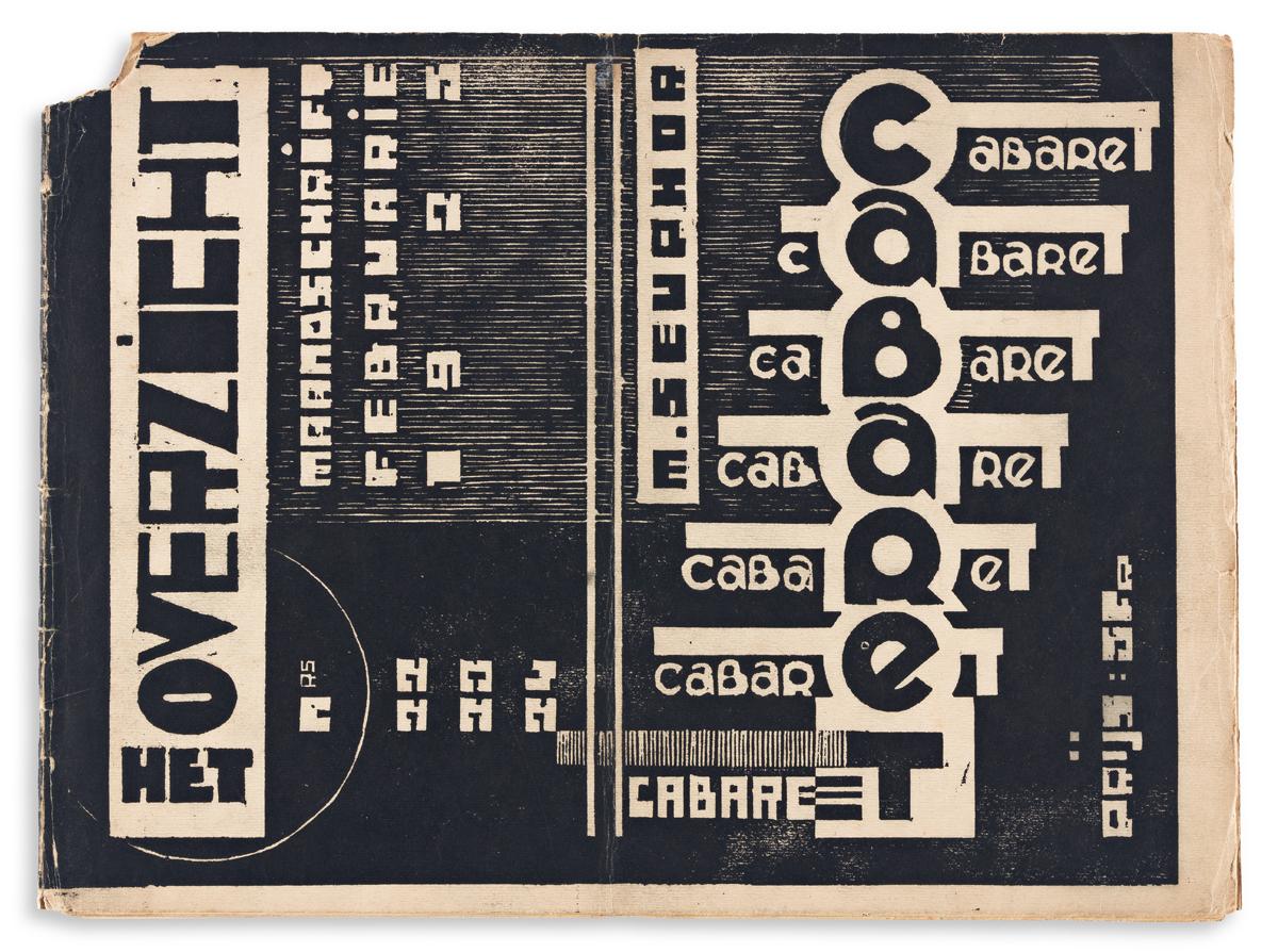 SEUPHOR, MICHEL [F.L. BERKELAERS] & PEETERS, JOZEF. Het Overzicht Nos. 22-23-24. Antwerp. 1925