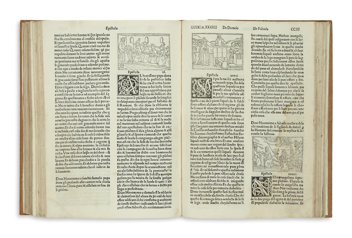 INCUNABULA--HIERONYMUS-Saint-Epistole--1497--Lacks-the-first