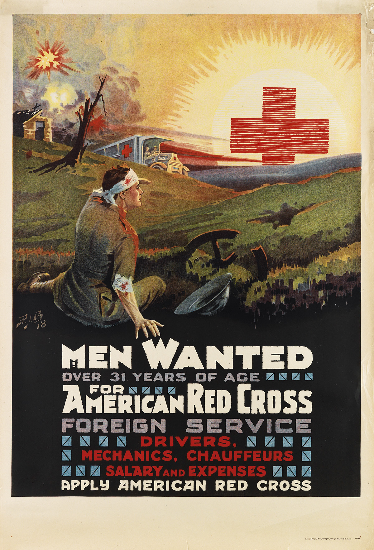 PIB-(MONOGRAM-UNKNOWN)-MEN-WANTED--FOR-AMERICAN-RED-CROSS-FO
