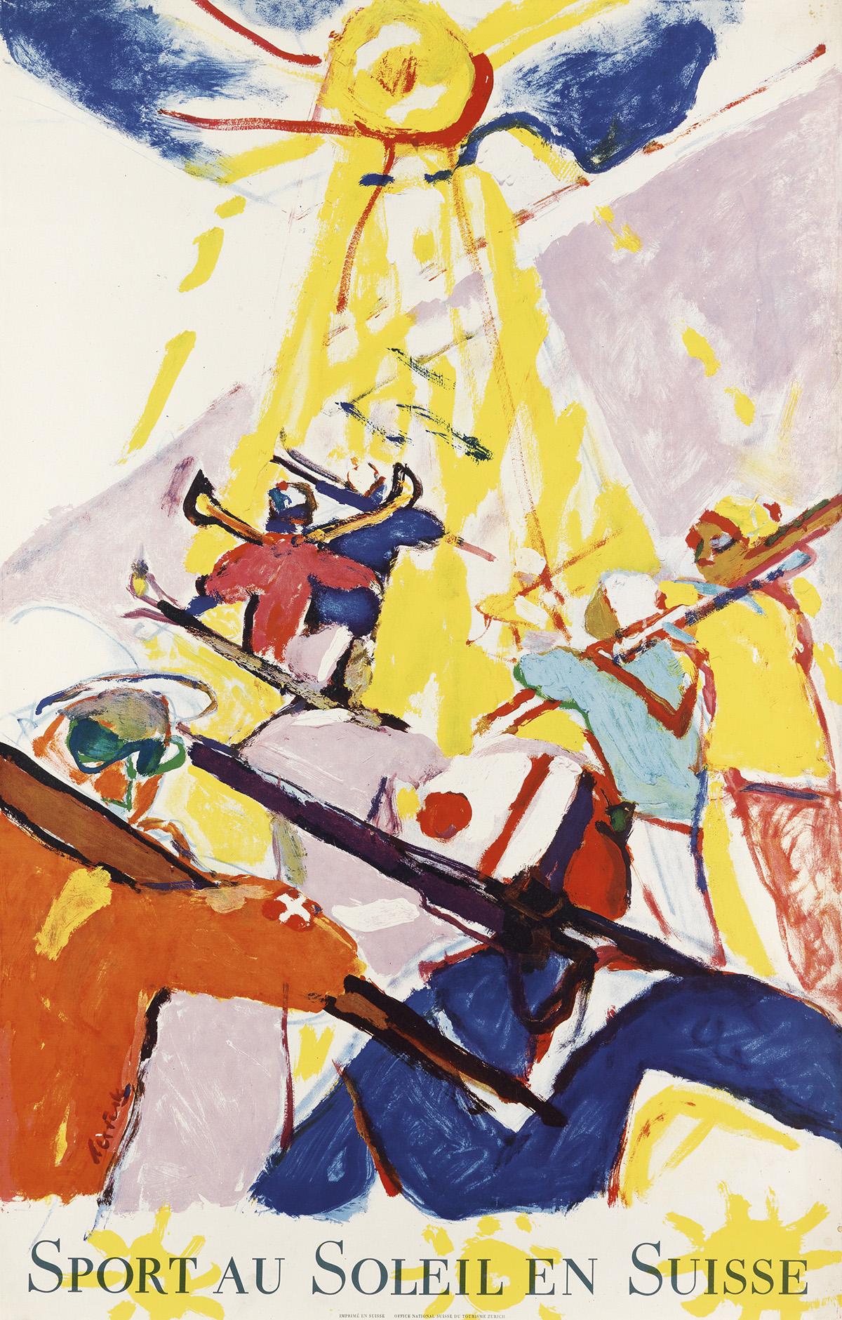 HANS-FALK-(1918-2002)-SPORT-AU-SOLEIL-EN-SUISSE-1957-39x25-i