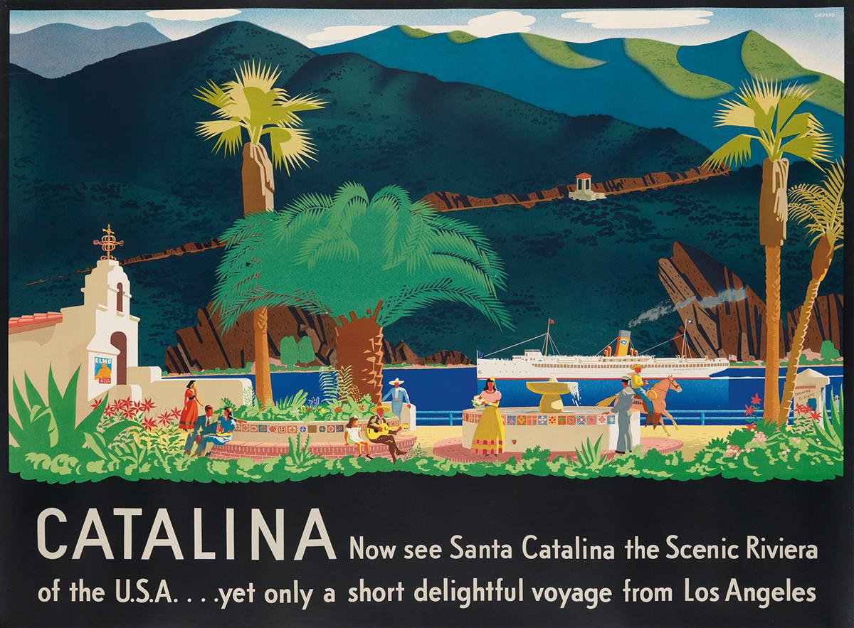 OTIS-SHEPARD-(1894-1969)-CATALINA-1938-39x51-inches-99x129-c