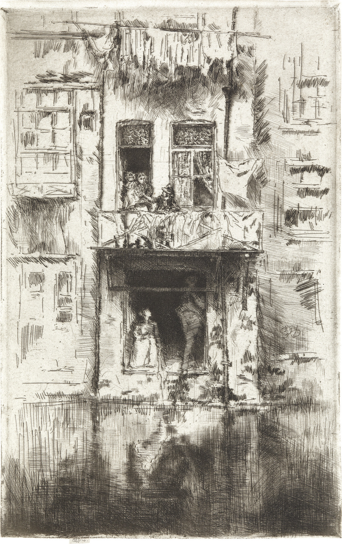 JAMES A. M. WHISTLER Balcony, Amsterdam.