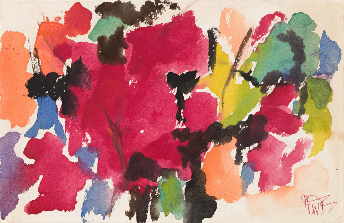 ALMA W. THOMAS (1891 - 1978) My Fall Garden.