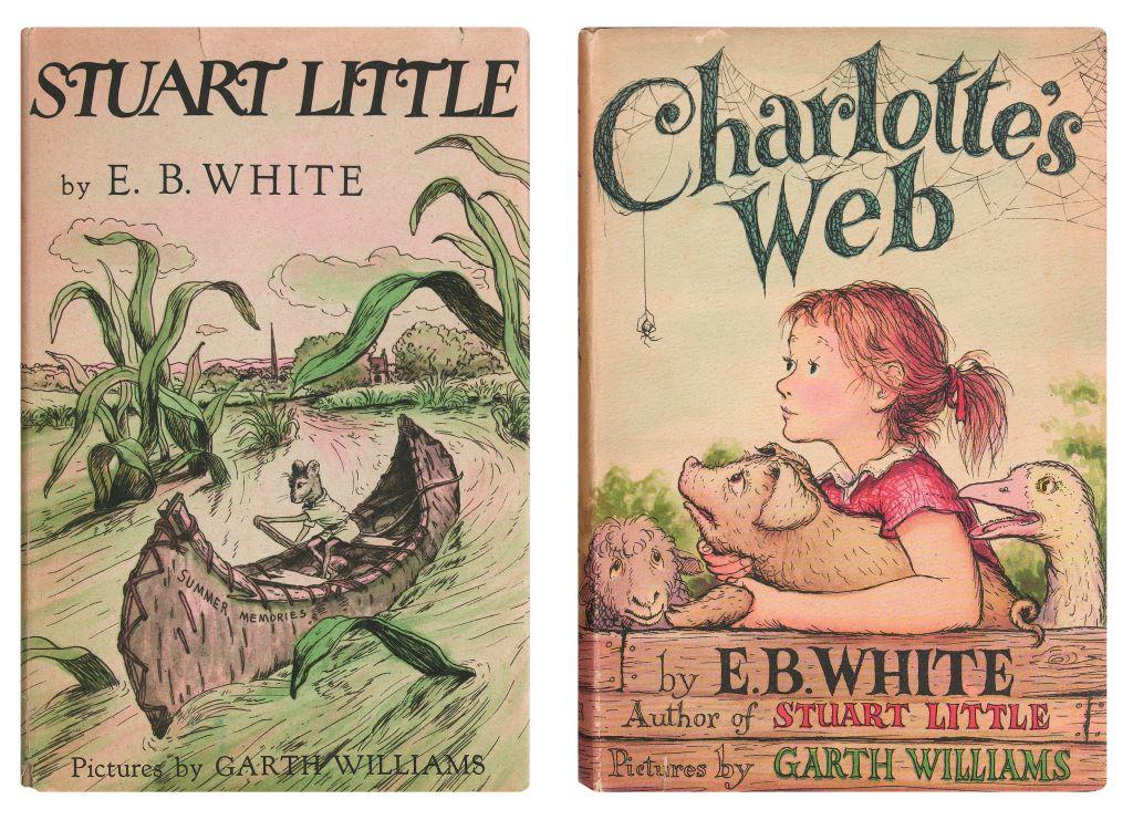 (CHILDRENS-LITERATURE)-White-EB-Stuart-Little--Charlottes-Web