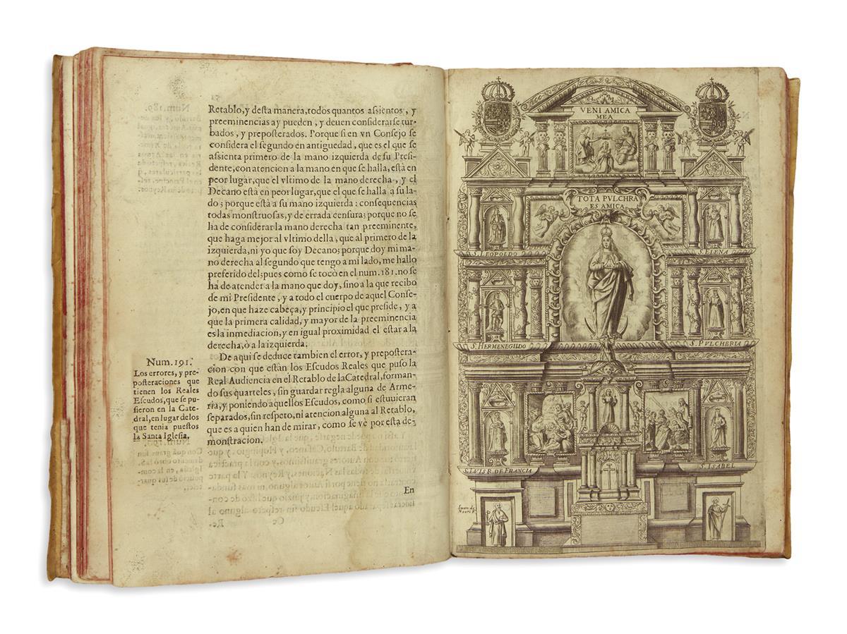 (MEXICAN IMPRINT--PUEBLA.) Calderón, Juan Alonso. Memorial historico, juridico, politico de la S. Iglesia Catedral de la Puebla