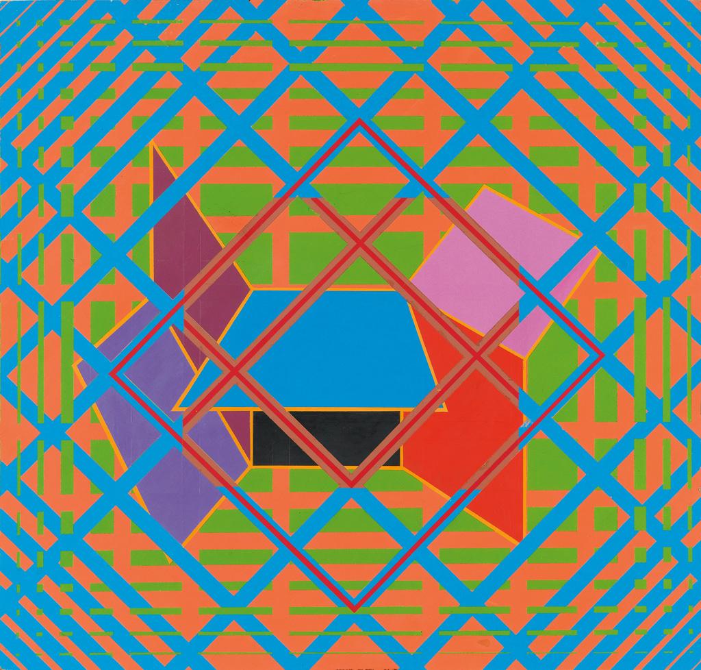 ALVIN D. LOVING, JR. (1935 - 2006) Untitled (Geometric Composition).