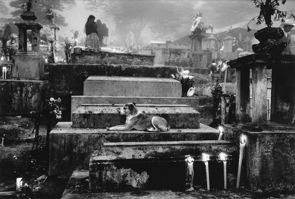 SEBASTIÃO SALGADO (1944- ) Cemetery of the Town of Hualtla de Jiménez, Mexico.