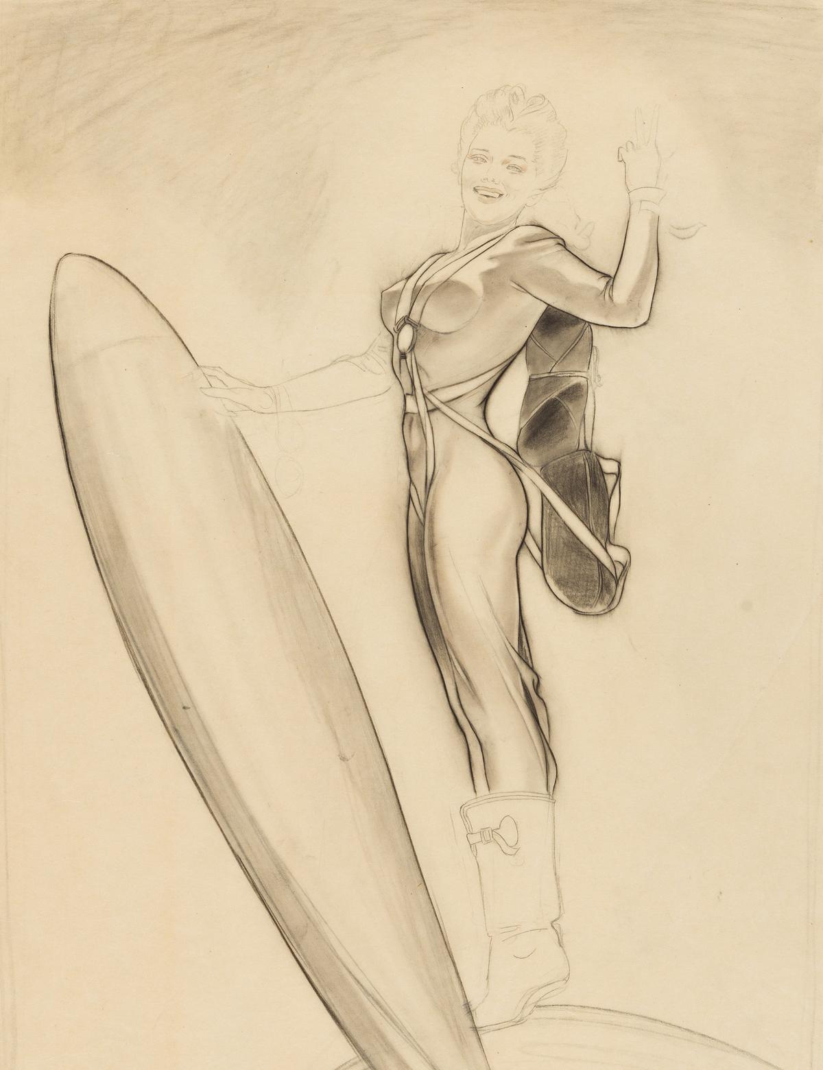 ALBERTO VARGAS (1896-1982) Rocket Girl. [PIN-UP]