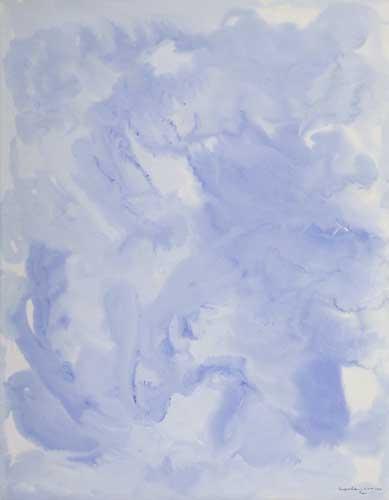 BEAUFORD DELANEY (1901 - 1979) Untitled (Light Blue Composition).