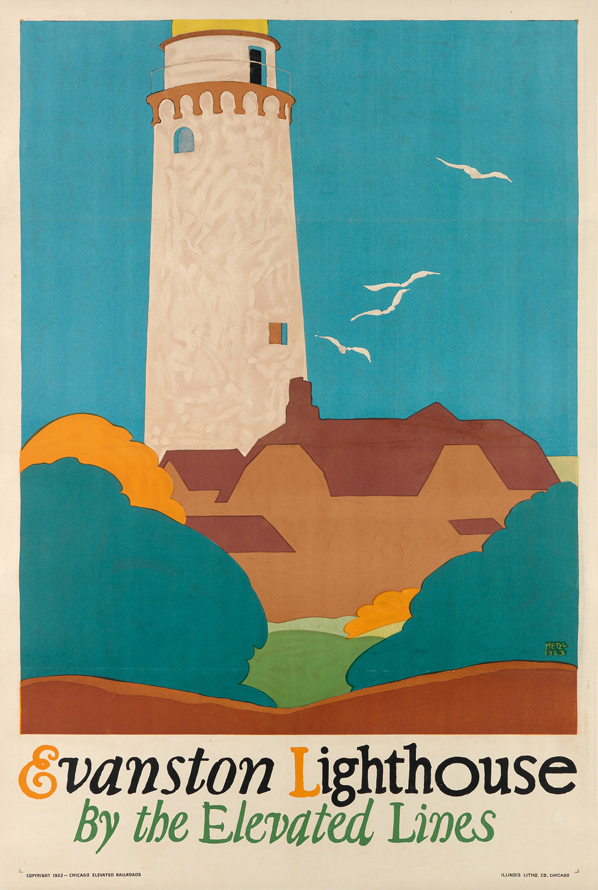 ERVINE-METZL-(1899-1963)-EVANSTON-LIGHTHOUSE--BY-THE-ELEVATE