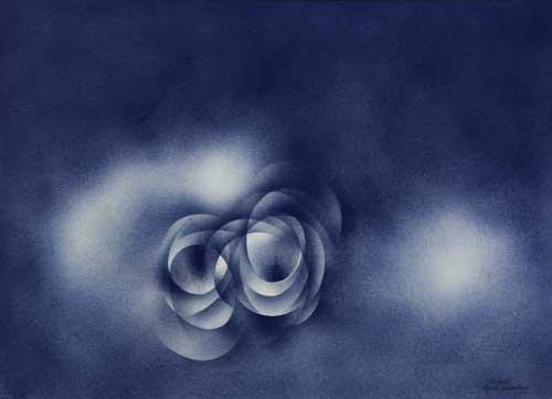 NORMAN LEWIS (1909 - 1979) Untitled (Blue Seascape).