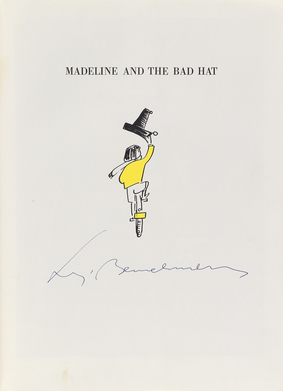 (CHILDRENS-LITERATURE)-BEMELMANS-LUDWIG-Madeline-and-the-Bad