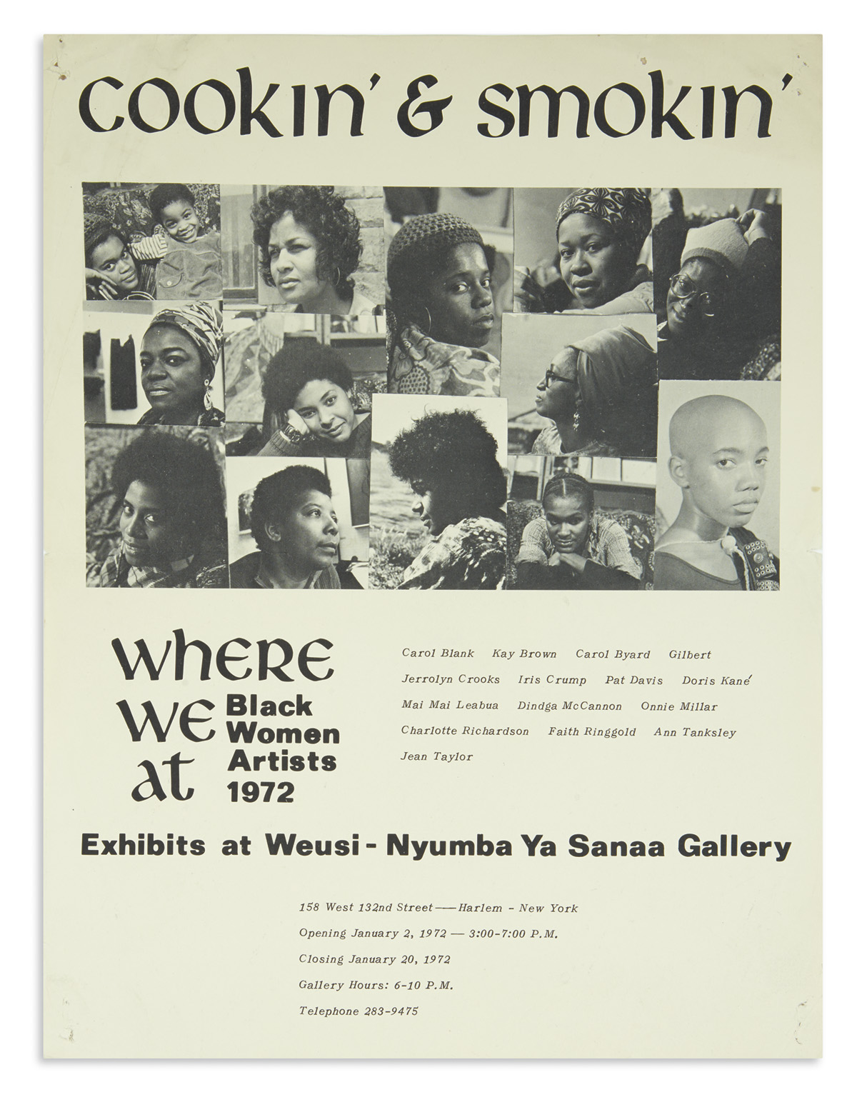 (ART.) Cookin and Smokin: Where We At, Black Women Artists, 1972.