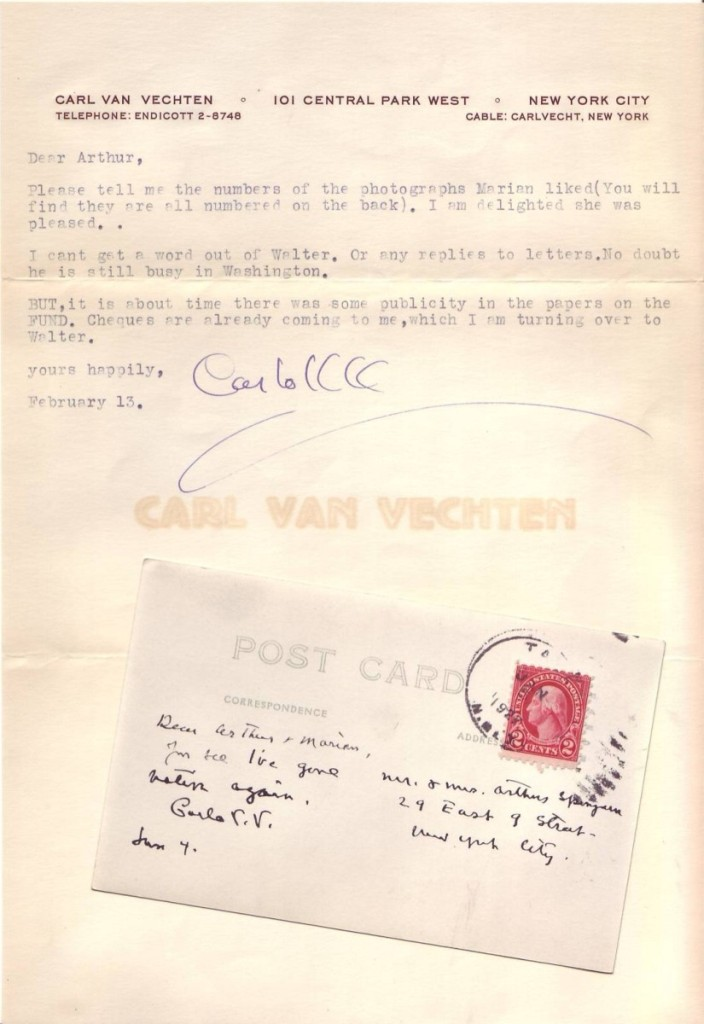 VAN-VECHTEN-CARL-Two-items-each-Signed-Carlo-VV-to-civil-rig