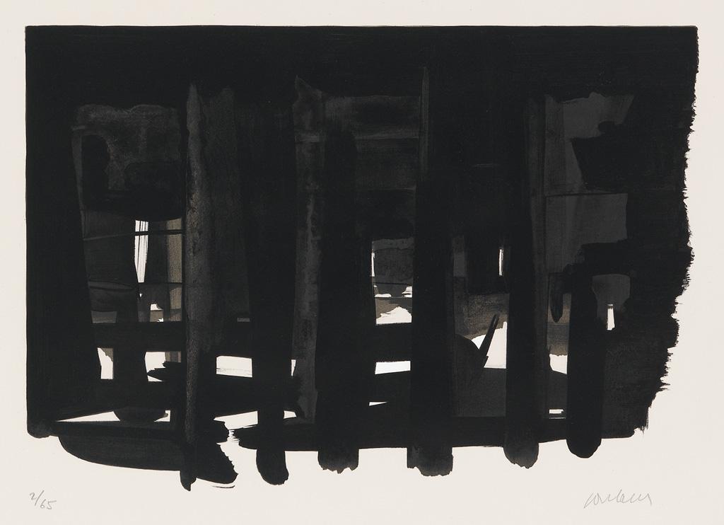 PIERRE SOULAGES Lithographie No. 16.