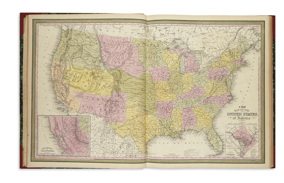 THOMAS, COWPERTHWAIT & CO.; and MITCHELL, SAMUEL AUGUSTUS. A New Universal Atlas