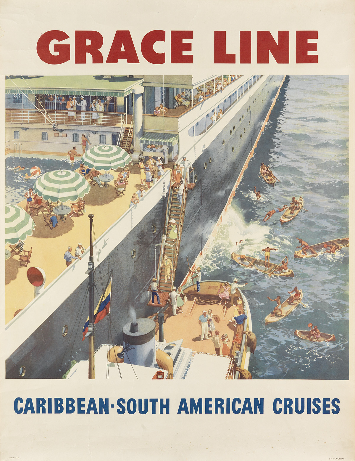 VARIOUS-ARTISTS-[OCEAN-LINERS]-Group-of-6-posters-Sizes-vary