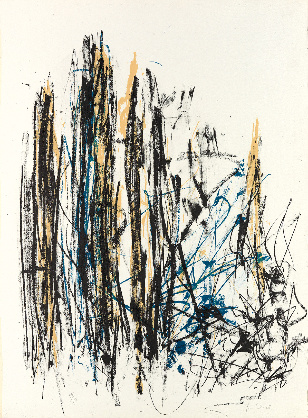 JOAN-MITCHELL-Arbres-(Black-Yellow-and-Blue)