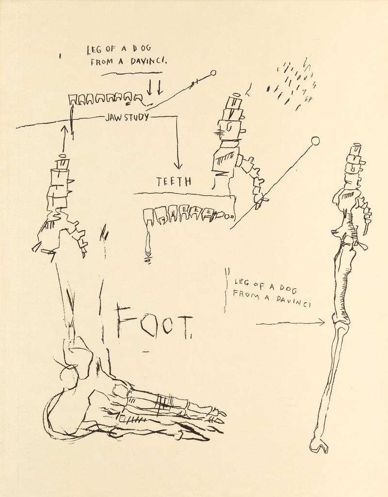 JEAN-MICHEL BASQUIAT (1960 - 1988) Leg of a Dog, from Da Vinci.