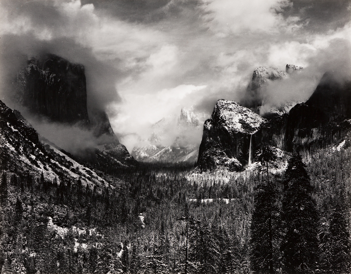 ANSEL ADAMS (1902-1984) Winter Storm, Yosemite (Clearing Winter Storm).